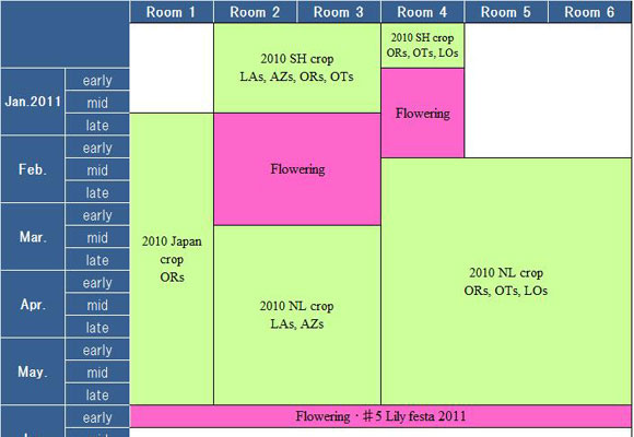 Schedule of our test greenhouse(until June, 2011) (2010/12/28)
