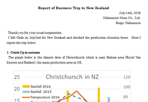 Report of Business Trip to New Zealand(July14th, 2016)