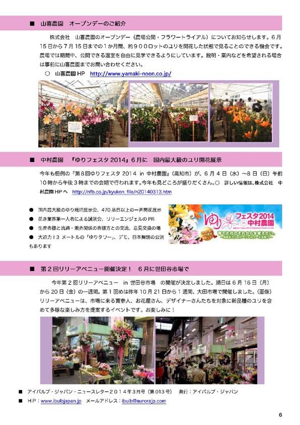 アイバルブ・ジャパン ニュースレター 2014年3月号(2014/3/26)