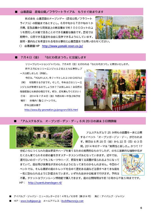 アイバルブ・ジャパン ニュースレター 2014年5/6月号(2014/6/04)