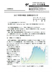 2017年南半球産 在庫表送付に付(2017/3/27)