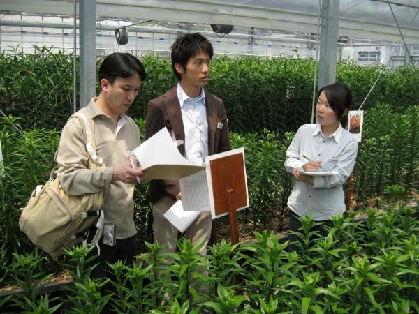 JFF会場でNHK「趣味の園芸」の公開収録 (2008/4/23)