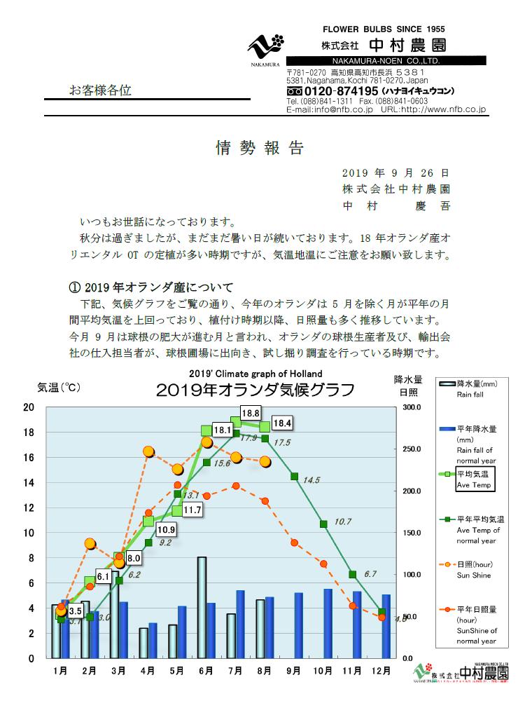 情勢報告(2019/9/26)
